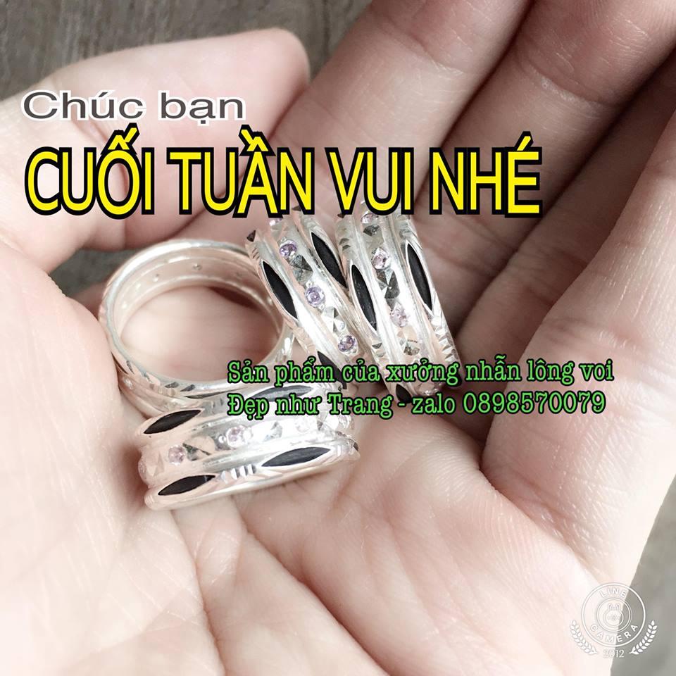 Hình ảnh những mẫu nhẫn lông đuôi voi may mắn đẹp nhất của Đẹp Như Trang dành cho nữ