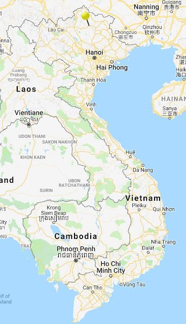 map ba be national park vietnam