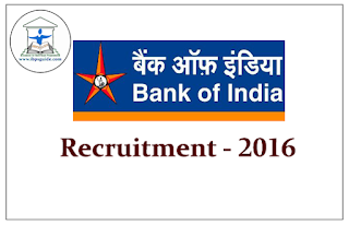 Bank of India Recruitment 2016 for the Post of Faculty
