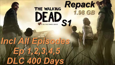 Download and Install The Walking Dead Season 1 Episodes 1-5 Full Pc Game