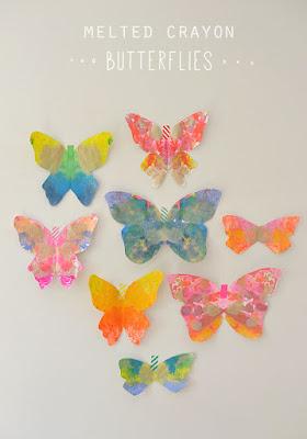 http://www.artbarblog.com/diy/melted-crayon-butterflies/