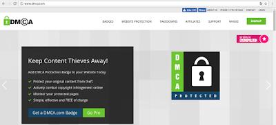 Cara Menlindungi Blog Dari Copy Paste Tanpa Izin dengan Mendaftar DMCA