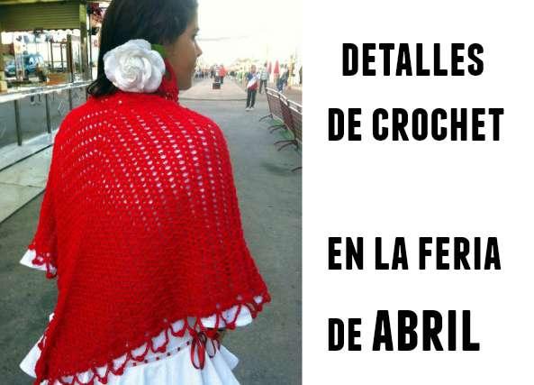 Feria de Abril Crochet Chal y Pendientes