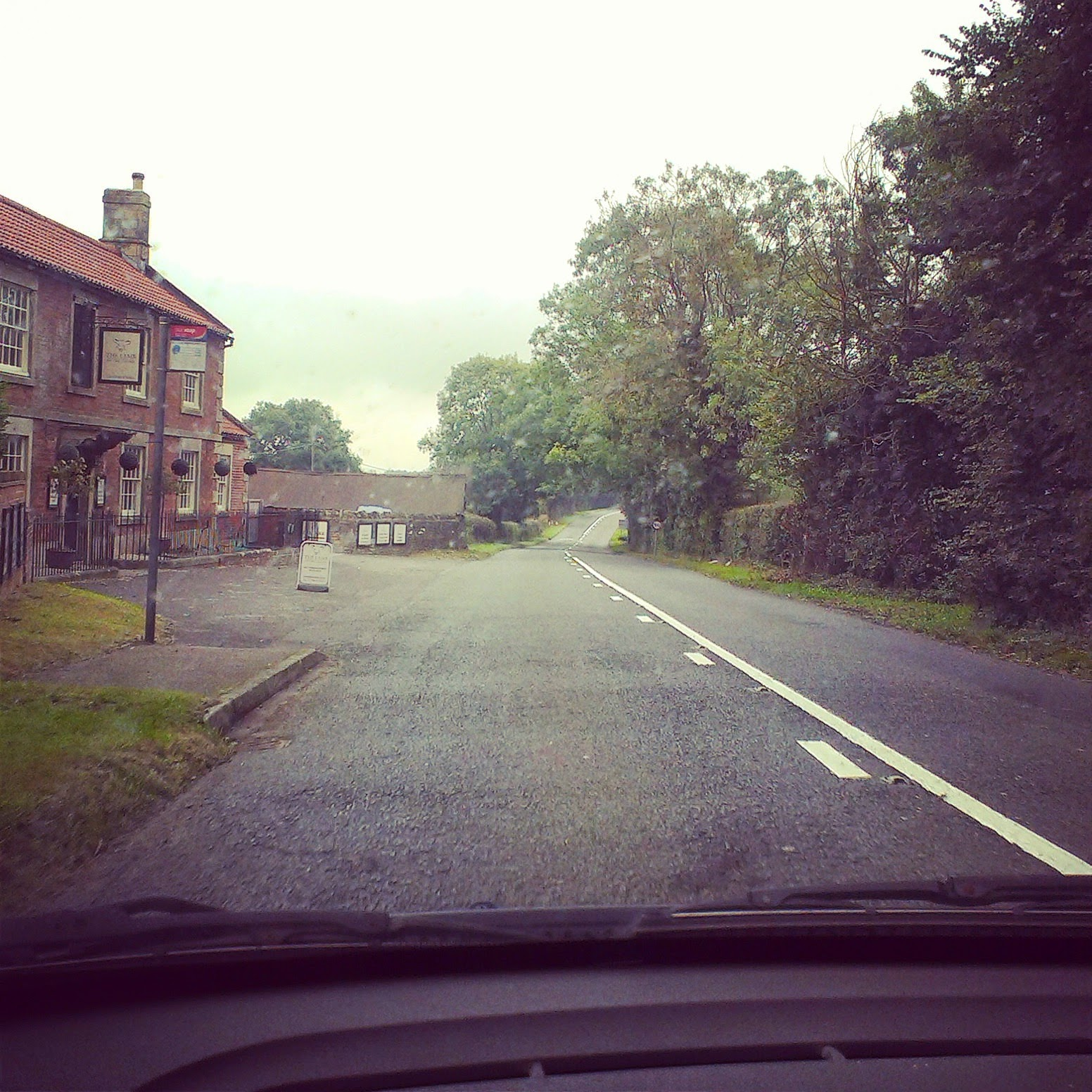 10am - driving through country lanes