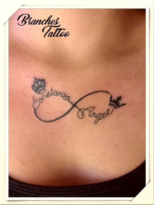 Branches Tattoo Tatuaje Infinito Con Coronas