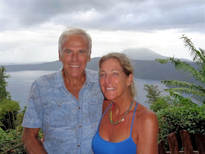 Doug and Johanne Dyer Laguna de Apoyo, Nicaragua. Doug is the author of A Tale of Two Geckos