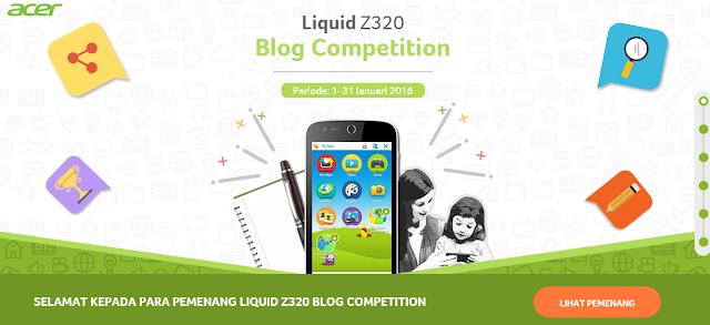 Pengumuman Pemenang Blog Competition Acer Liquid Z320 Periode 1-31 Januari 2016