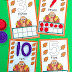 Thanksgiving Ten Frame Counting Cards