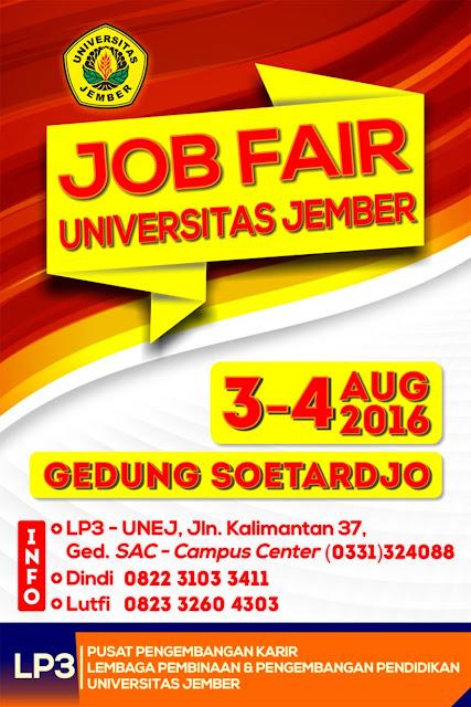Job fair Jember : Bursa Kerja UNEJ 2016