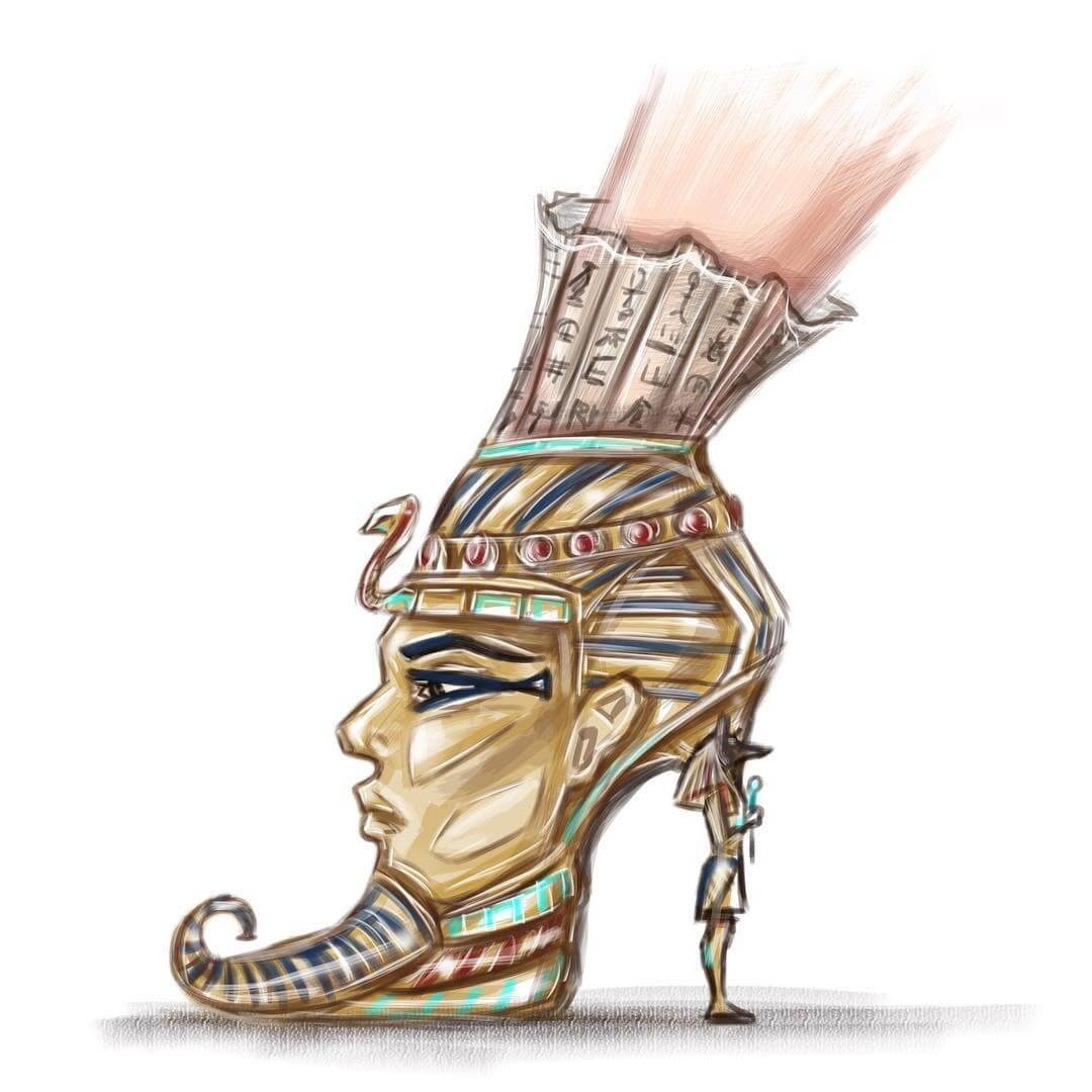 14-Pharaoh-Heels-Shamekh-Bluwi-Haute-Couture-Exquisite-Fashion-Drawings-www-designstack-co