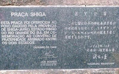 Praça Shiga - Japão em Porto Alegre
