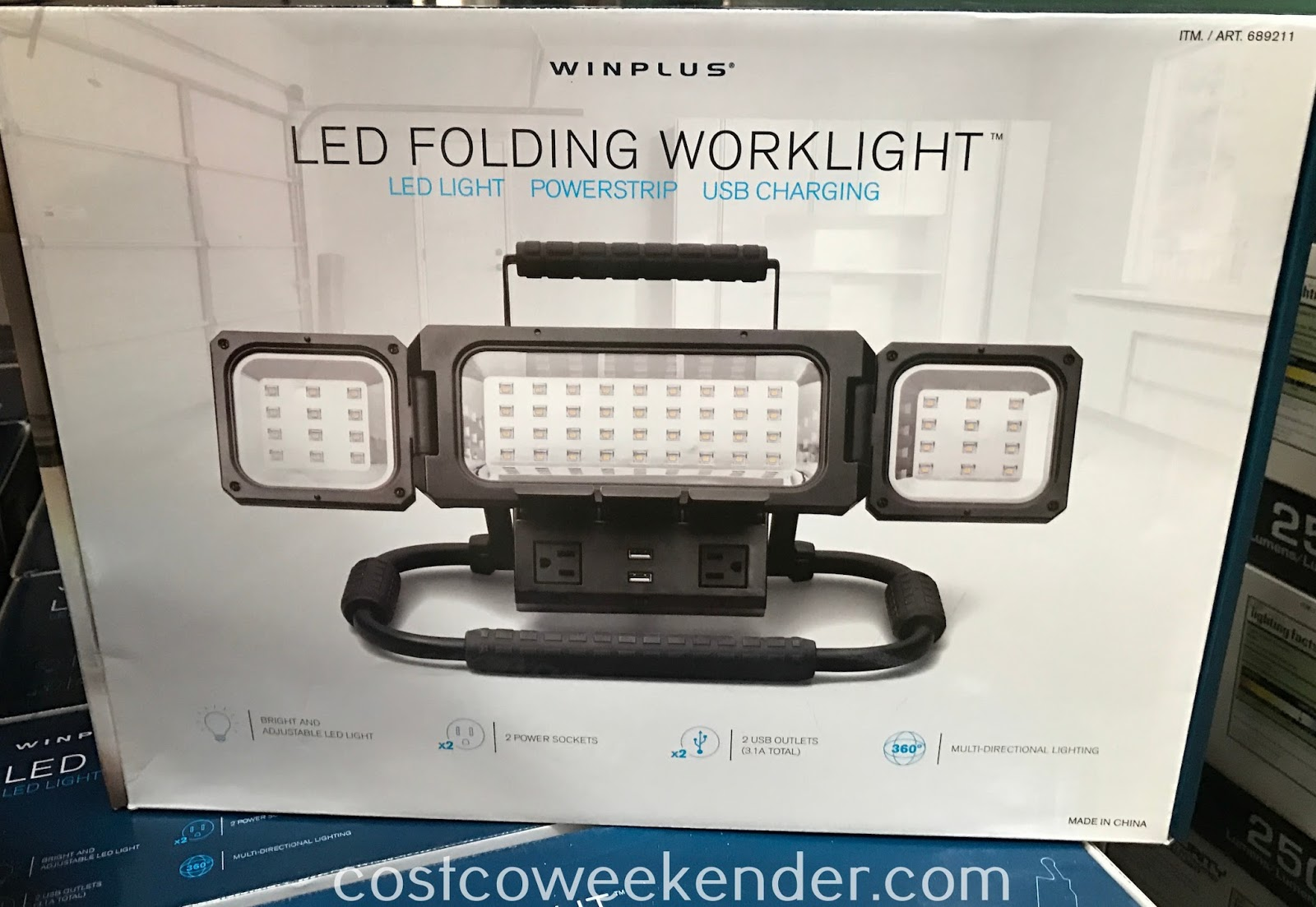 Get ready to do some work on your car even at night, thanks to the Winplus LED Folding Worklight