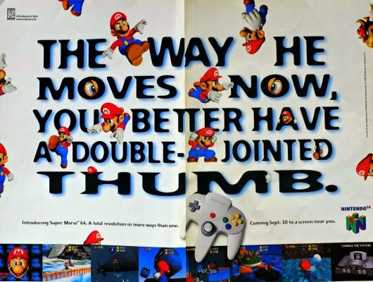 Super Mario 64 for Nintendo 64 advertisement