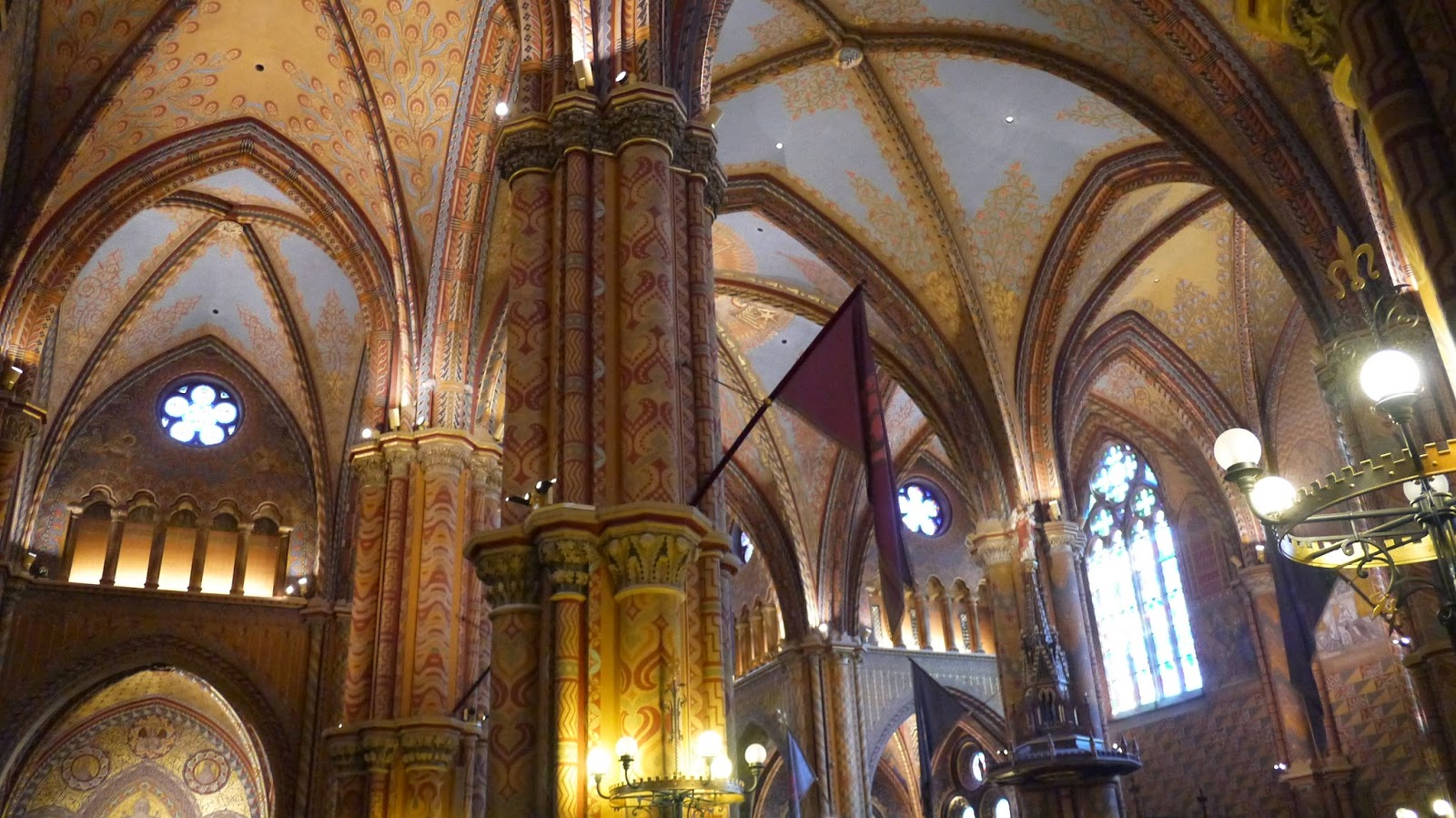 Inside Matthius Church Budapest Hungary