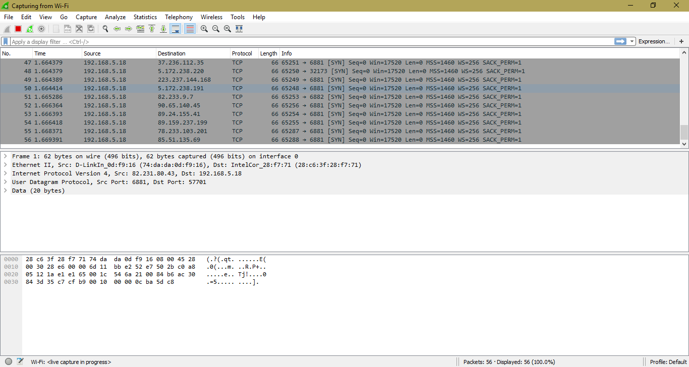 How to Analyze Network Packets using Wireshark - Hacking Dream