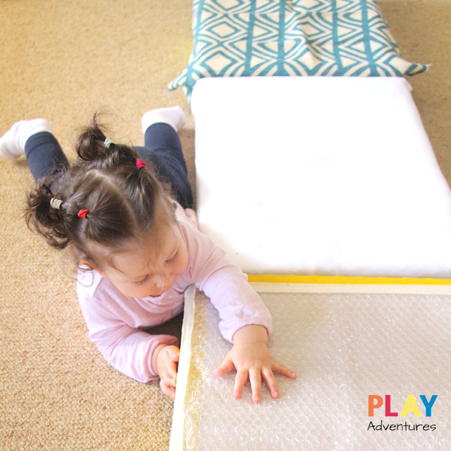 Sensory Runway for Baby - Baby Play Idea