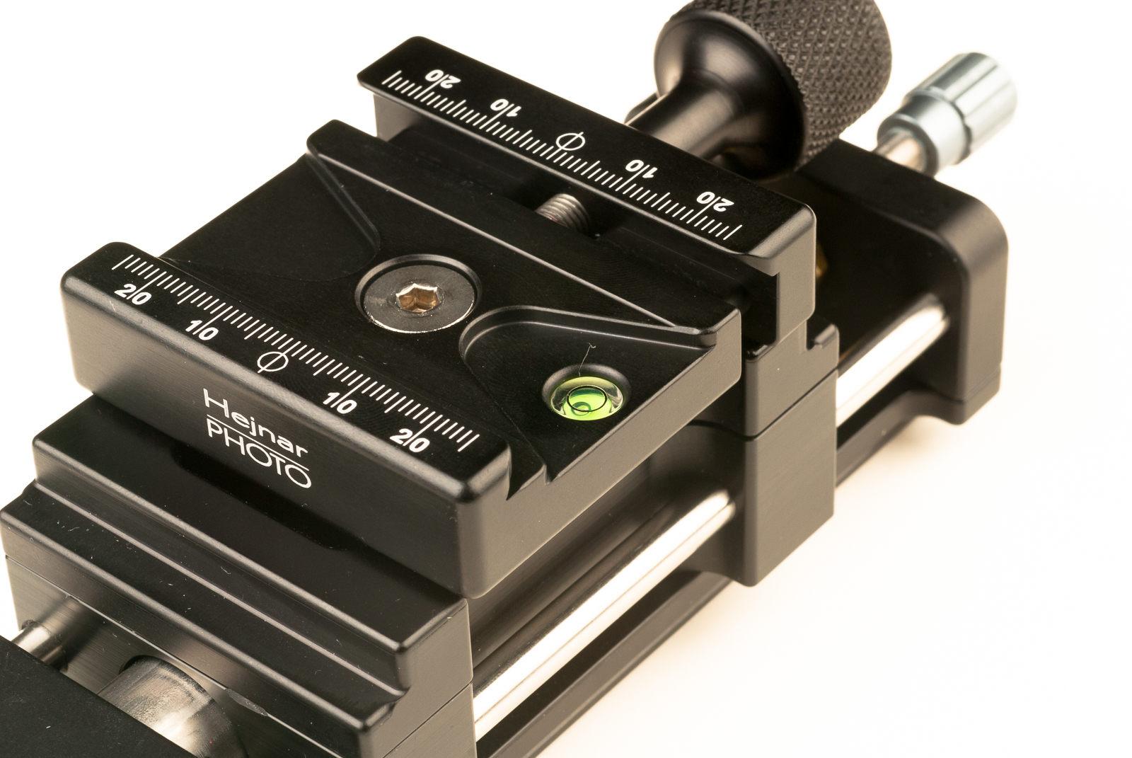 Hejnar PHOTO MS4-100-1 Macro Rail - F72b QR clamp closeup
