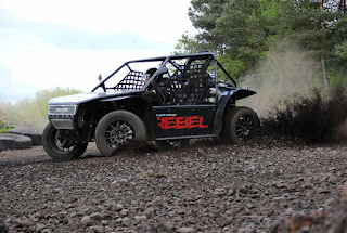 Rebel Buggy kicking up dirt