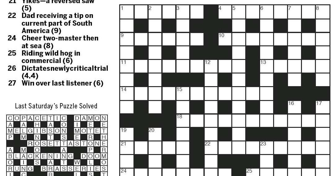 National Post Cryptic Crossword Forum Saturday February 27 2016 The Good The Bad And The Ugly
