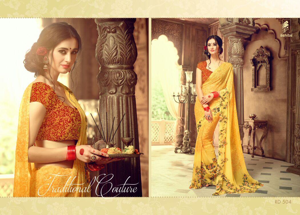 Rudraksha Vol 5 – Georgette Latest New Stylish Printed Saree