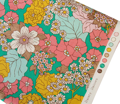 Dainty Daisies in Emerald from the Bungalow Collection by Joel Dewberry
