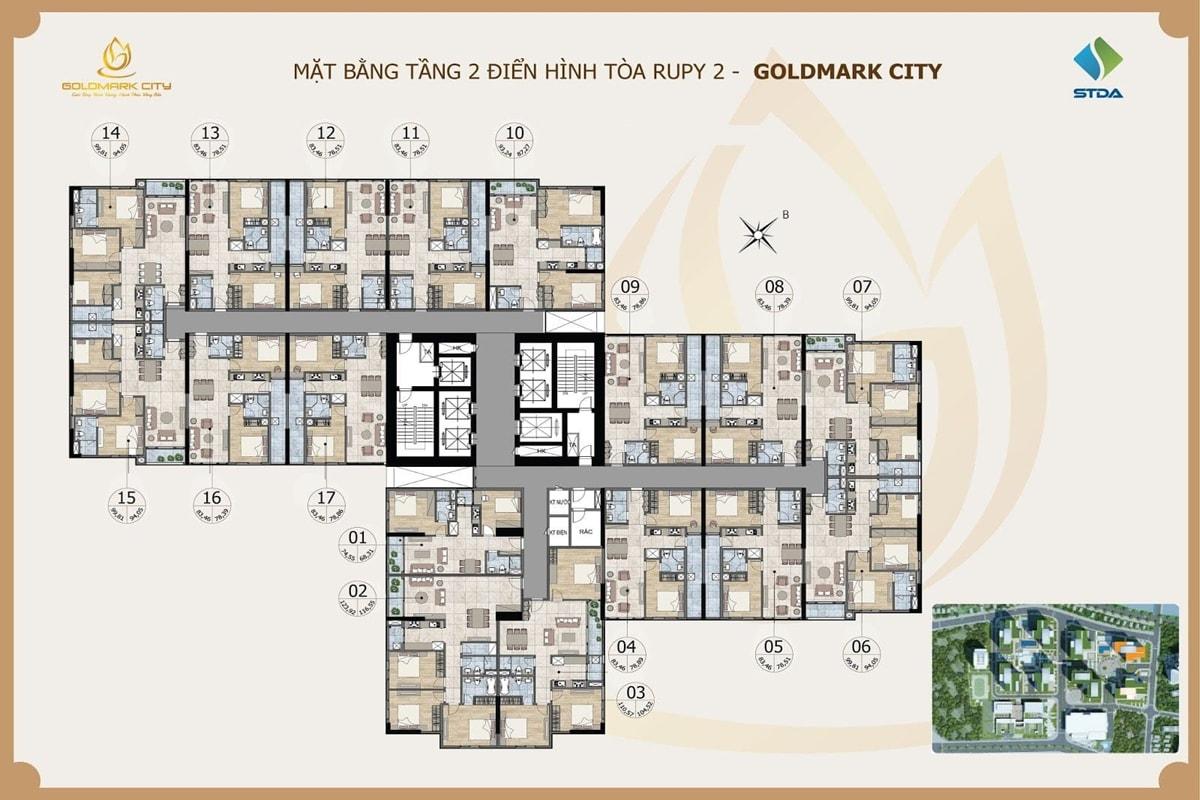 Tòa Ruby 2 dự án Goldmark City