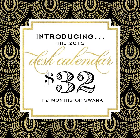 gold 2015 Desk Calendar