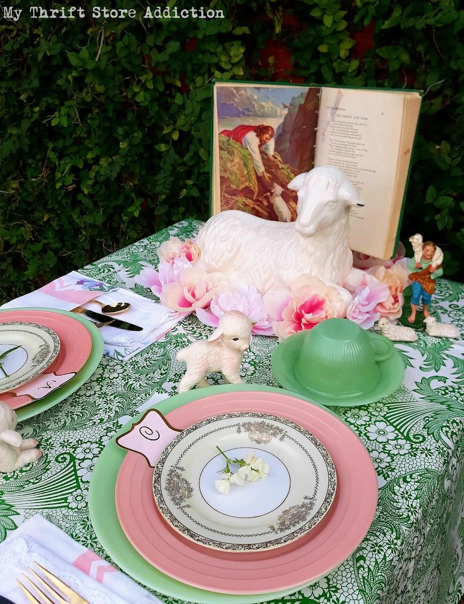 Good Shepherd spring tablescape