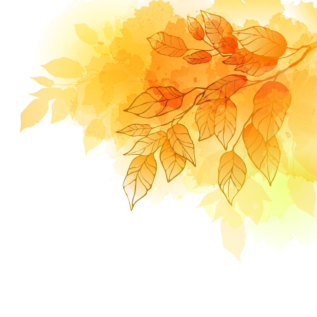 Golden Autumn Leaves Background Vector Material
