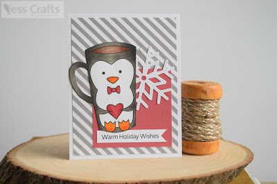 Penguin Cup Card by Jess Gerstner for Jess Crafts Digitals