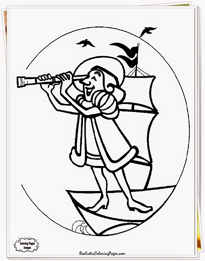 Columbus Day Coloring Pages Printable Realistic Coloring Pages