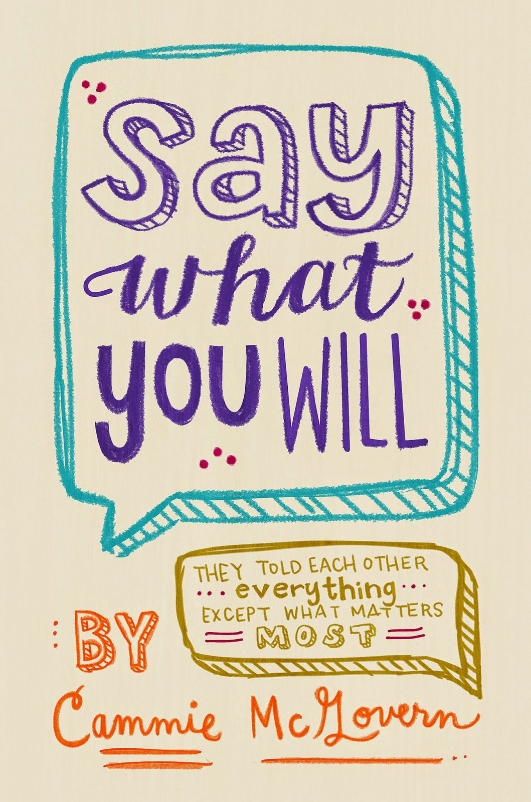 Say What You Will by Cammie McGovern book cover and review