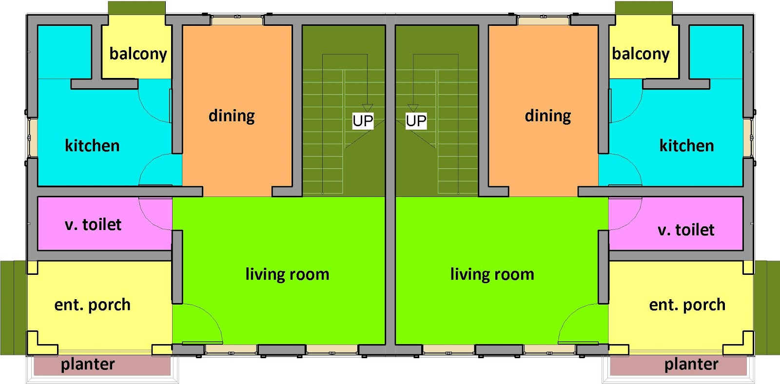 Double Storey Semi Detached House Floor Plan: DizyneRESOURCE: Residential Building Designs #1