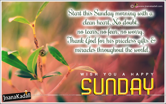 Happy sunday latest English Inspirational Messages, Online Sunday Motivational Speeches