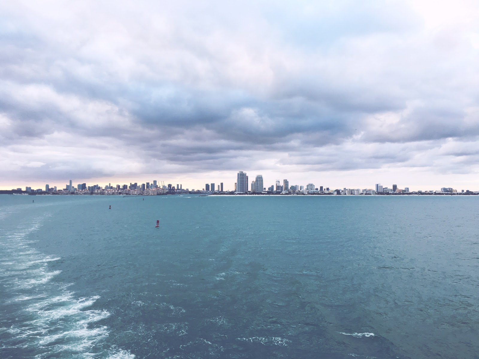 Leaving Miami, Florida on Carnival Glory for 7-day Eastern Caribbean cruise