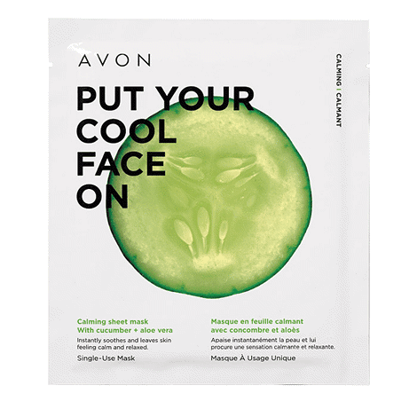 Calming Sheet Mask with cucumber and aloe vera instantly soothes and leaves skin feeling calm and relaxed. One single-use mask is easy to apply and remove.