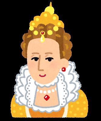 エリザベス1世の似顔絵イラスト