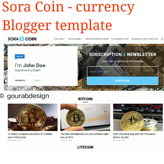 Sora coin blogger template