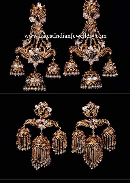 Unique 3 Jhumpa Earrings