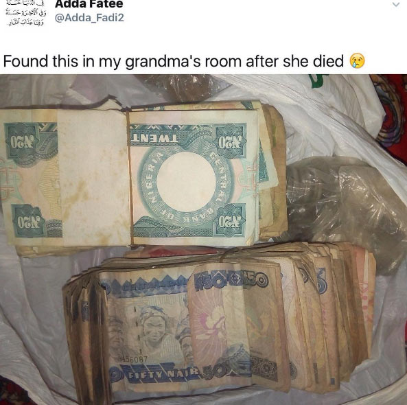 "Girl discovers ""huge"" amount of money her grandmother left behind"