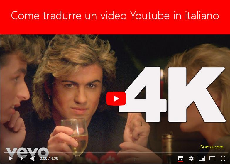 Traduzione video Youtube in Italiano