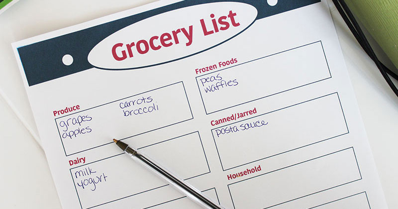 Free Printable Grocery List to Make Shopping Easier