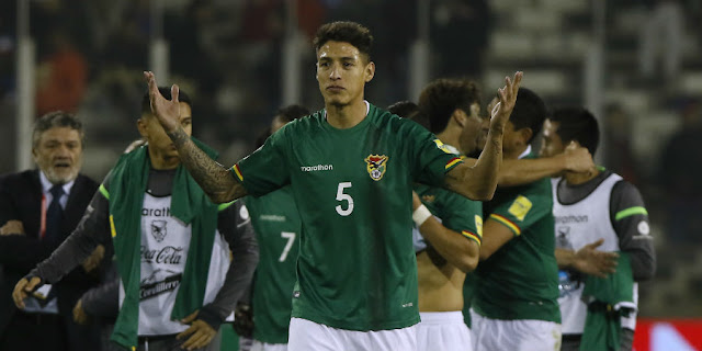 Nelson Cabrera con la selección de Bolivia