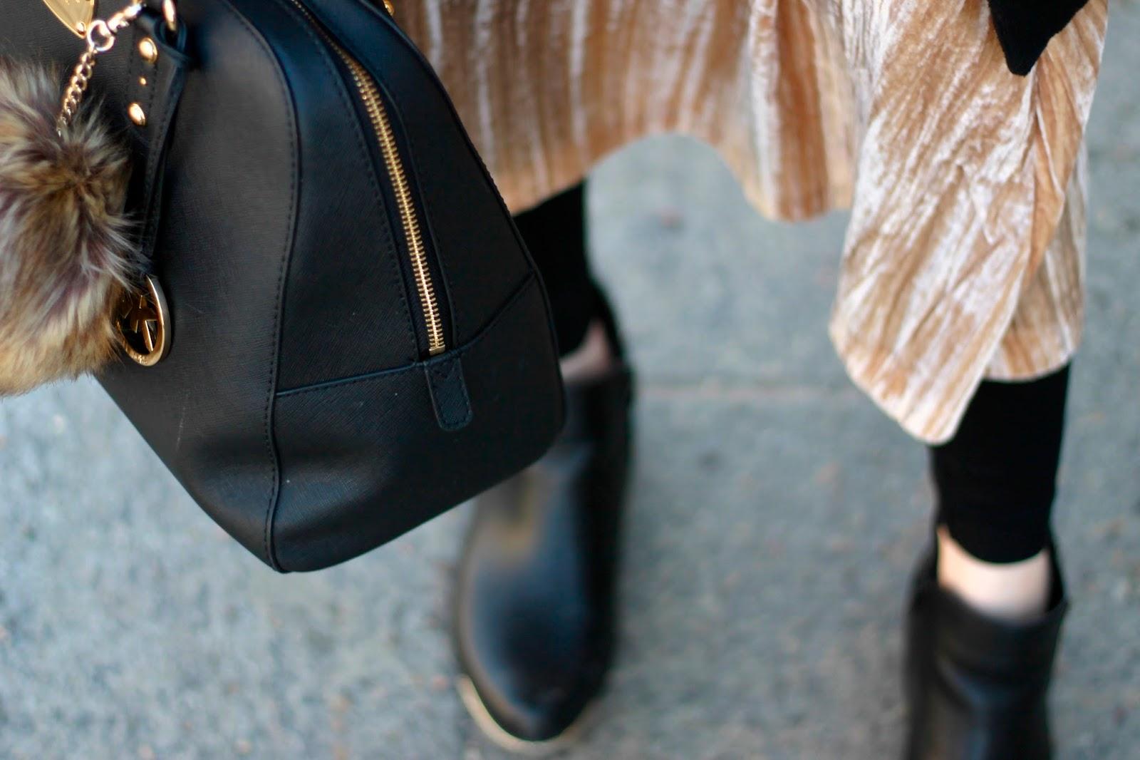 how to wear a velvet skirt