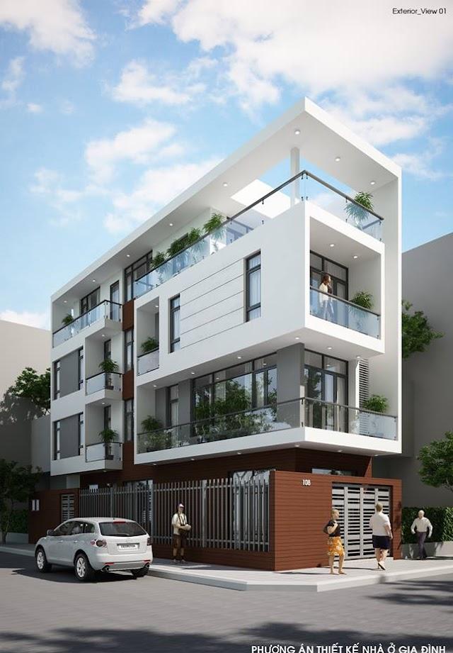 Những mẫu thiết kế nhà phố kiểu hiện đại