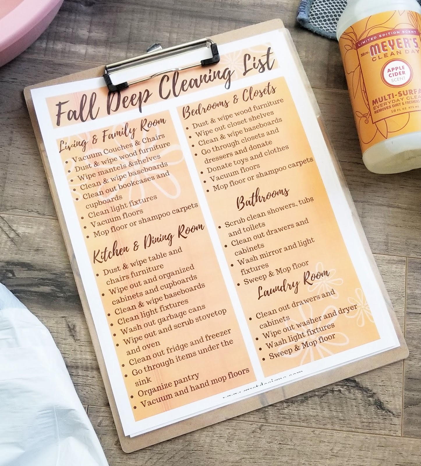 quick and easy fall deep cleaning checklist gyct designs