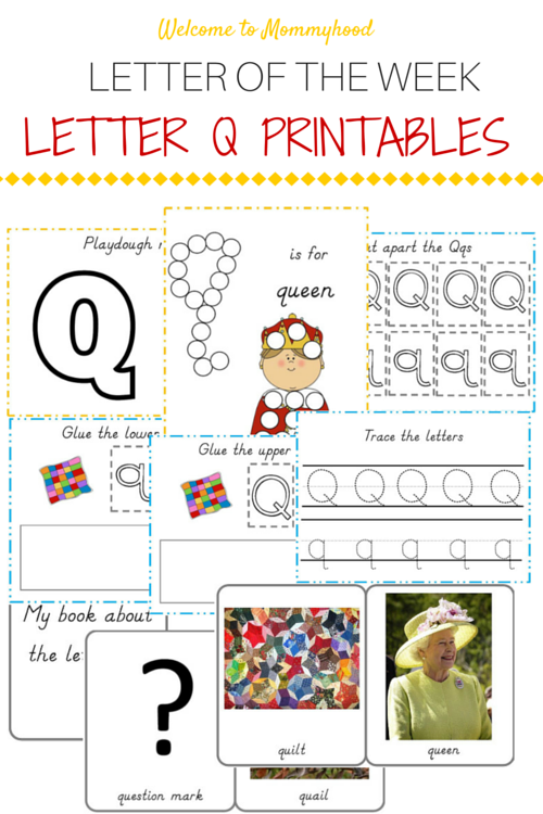 Tot Labs presents hands on letter activities for toddlers and preschoolers: FREE Letter Q printables pack by Welcome to Mommyhood, #preschoolactivities, #montessoriactivities, #montessori, #handsonlearning, #letteroftheweek, #lotw, #freeprintables
