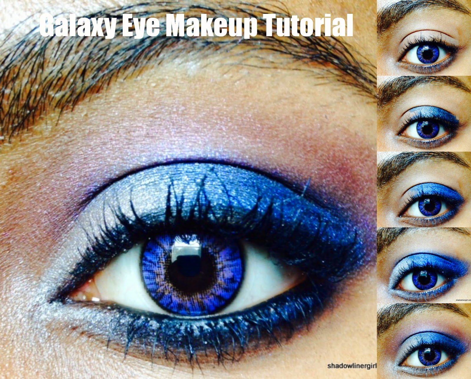 Galaxy eye makeup tutorial