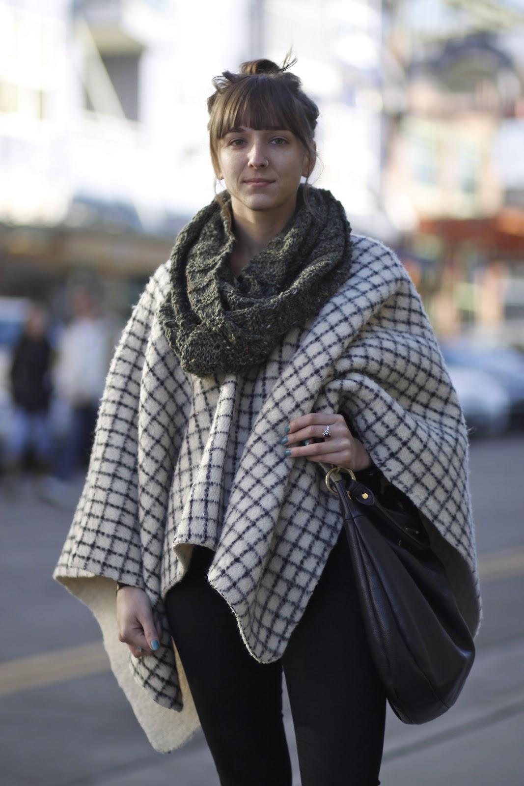 Suria Markus Fremont poncho seattle street style fashion it s my darlin  0f5b203d343