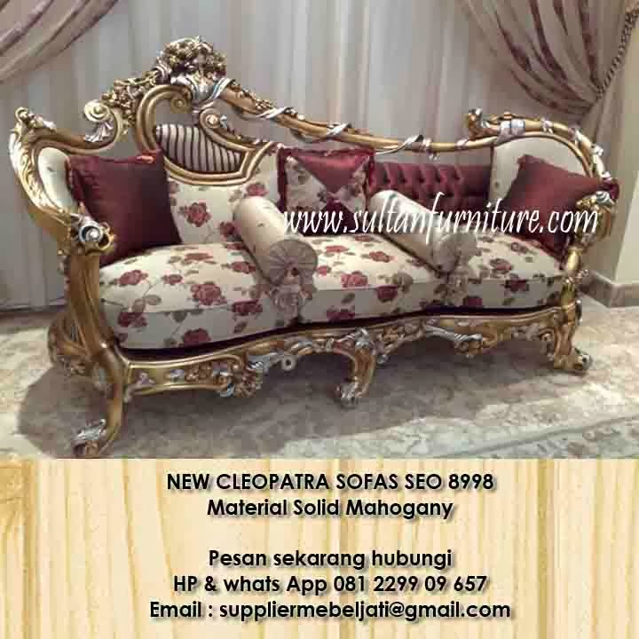 Jual New Cleopatra Klasik Sofa Ukir Furniture Jepara Style